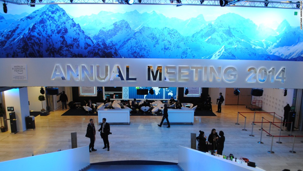 CNN live broadcast from Davos, where the World Economic Forum is being held.