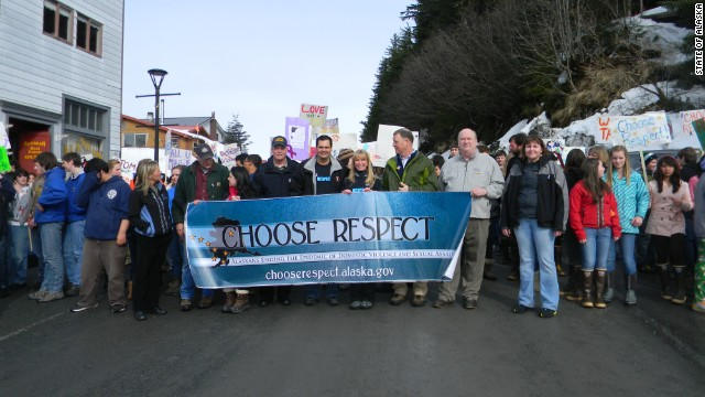 "A ""Choose Respect"" rally last year in Alaska."