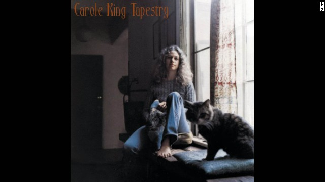 "Cover of Carole King's 1971 album, ""Tapestry"""