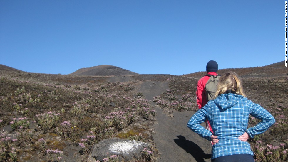 Mount Cameroon is great for hiking, with a landscape that ranges from tropical rainforest to savannah, and a bare snow-capped summit to caves and waterfalls.