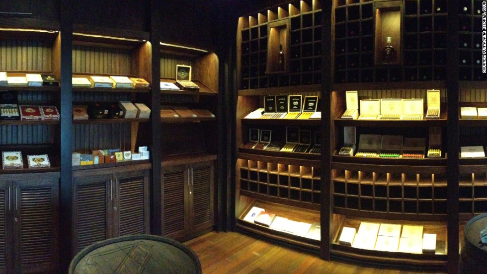 At the Cigar Bar & Lounge at the Westin Puntacana Resort & Club in the Dominican Republic, a specialist will hand-roll your cigar.