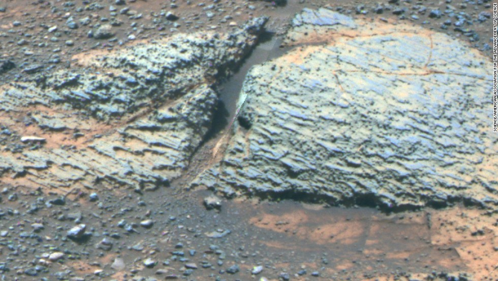 A 2014 study with data from Opportunity suggests that water in the Endeavour Crater region would have been more favorable to microbial life before rather than after the crater formed. This rock is from an area known as Whitewater Lake, part of the crater's rim.