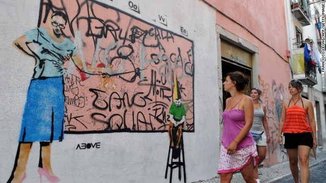 Bairro Alto: Graffiti with your nightlife, and lots of it.