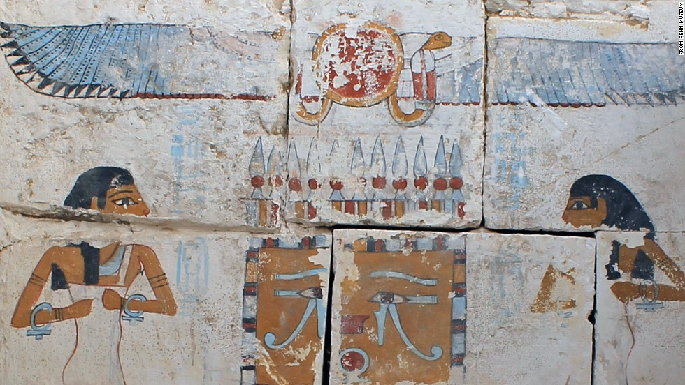 Researchers with the University of Pennsylvania Museum of Archaeology found intricate and vibrantly colored pictures in the tombs of Abydos in the Egyptian desert.