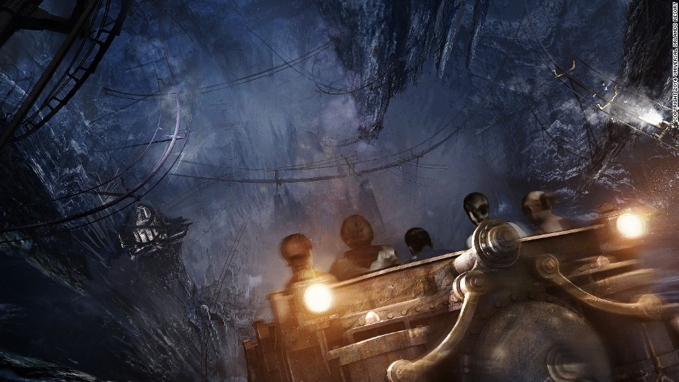 The new attraction will feature a ride called Harry Potter and the Escape from Gringotts.