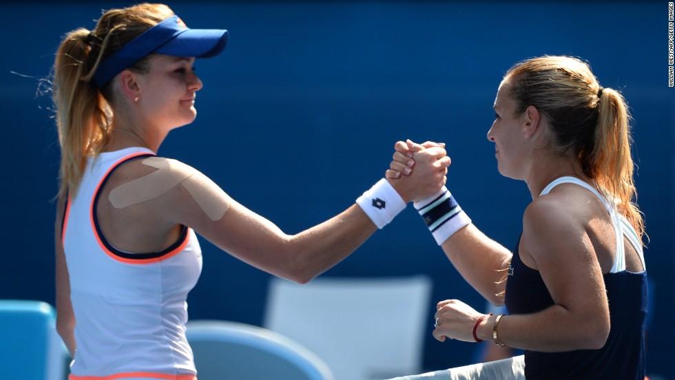 By beating Poland's Agnieszka Radwanska (left) in the semifinals, Cibulkova eclipsed her best ever run in a grand slam tournament. In 2009, she reached the semifinal of the French Open but lost to Russia's Dinara Safina.