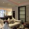 london basement living room