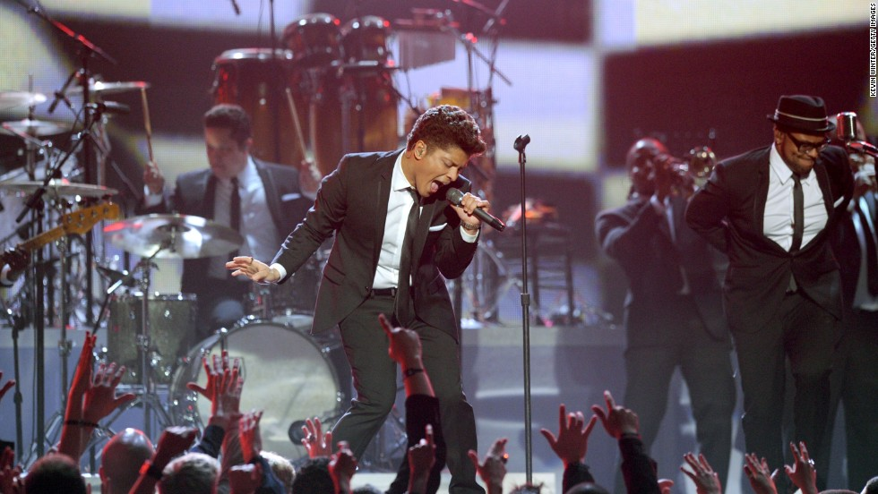 "A few days before appearing in court <a href=""http://www.cnn.com/2011/SHOWBIZ/celebrity.news.gossip/02/16/bruno.mars.plea/"" target=""_blank"">to accept a plea deal on a drug charge</a>, singer Bruno Mars performed at the 2011 Grammy Awards and won a Grammy for best male pop vocal performance."