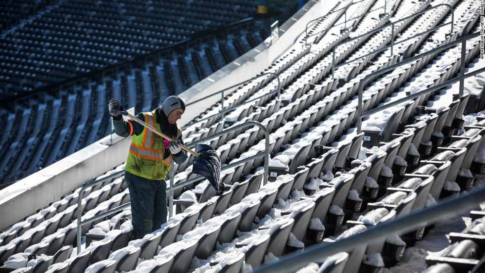 The NFL and local authorities are preparing for a possible snowstorm on the day of the game.
