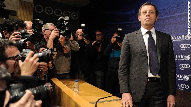 Barca's Rosell resigns over Neymar deal