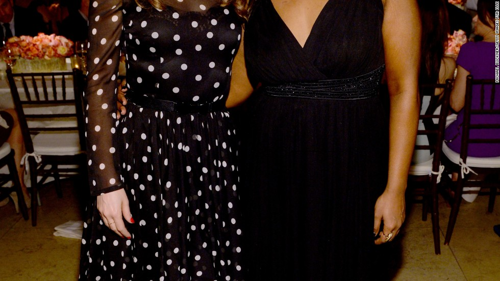 Fox comedy pals Zooey Deschanel and Mindy Kaling attend Elle magazine's Women in TV celebration on January 22.