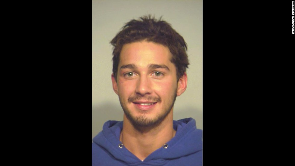 "In November 2007, LaBeouf earned that <em>other </em>Hollywood rite of passage: his very first mugshot. The then-21-year-old actor was arrested for trespassing in a Chicago drugstore. According to <a href=""http://www.people.com/people/article/0,,20158174,00.html"" target=""_blank"">People magazine</a>, a security guard at the store repeatedly asked LaBeouf to leave because he appeared intoxicated, and when the actor refused, the security guard called the cops."