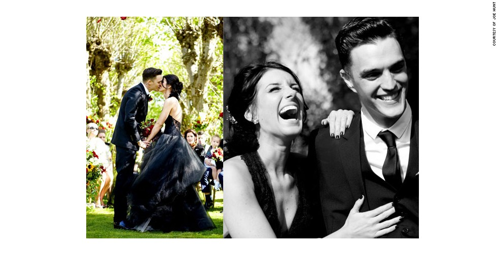 """<a href=""""http://www.elle.com/life-love/sex-relationships/kelsey-isaac-weddings#slide-5"""" target=""""_blank"""">Shenae and Josh</a>: May 2013 in a small garden"""