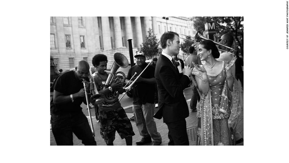 "<a href=""http://www.elle.com/life-love/sex-relationships/kelsey-isaac-weddings#slide-7"" target=""_blank"">Zahra and Vincent</a>: April 2013 in Washington, D.C."