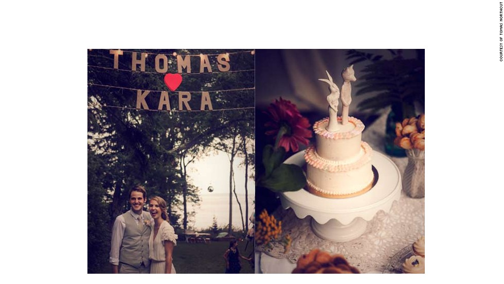 "<a href=""http://www.elle.com/life-love/sex-relationships/kelsey-isaac-weddings#slide-8"" target=""_blank"">Kara and Thomas</a>:  August 11, 2012, at Kara's family's home in Rockport, Maine"