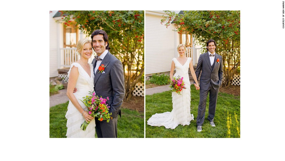 "<a href=""http://www.elle.com/life-love/sex-relationships/kelsey-isaac-weddings#slide-10"" target=""_blank"">Amy and Carter</a>: September 10, 2011, at their Traverse City, Michigan, home, which is a 100-year-old farmhouse"
