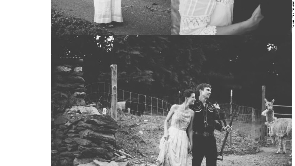 """<a href=""""http://www.elle.com/life-love/sex-relationships/kelsey-isaac-weddings#slide-11"""" target=""""_blank"""">McKenzie and Jamie</a>: June 2012 on a farm they rented (See more at <a href=""""http://www.elle.com/life-love/sex-relationships/alternative-weddings?click=main_sr#slide-1"""" target=""""_blank"""">Elle.com</a>)"""