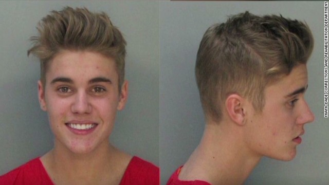 Busted Justin Bieber faces the music