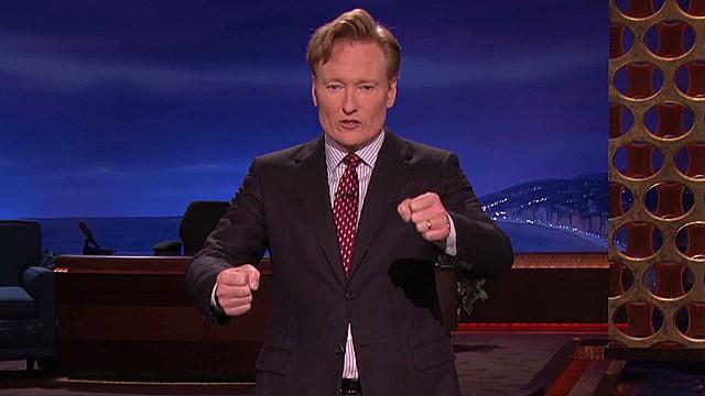 Conan humors Bieber bust