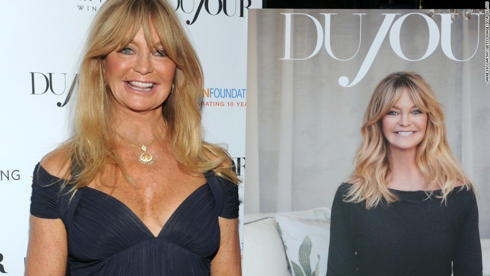 Actress Goldie Hawn attends DuJour's celebration of her foundation, The Hawn Foundation, on September 25, 2013 in New York City.