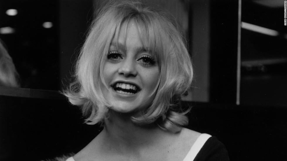 Film star Goldie Hawn in 1970 after winning an Academy Award for Best Supporting Actress for Cactus Flower in 1969.