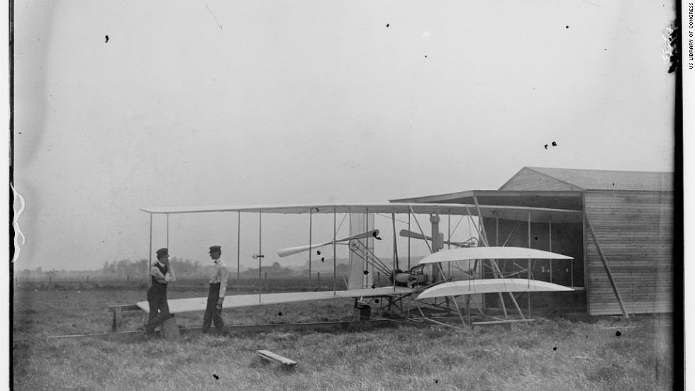 Wilbur and Orville Wright gained permission from the landowner to use the field as a flight test facility and flying school. Aircraft were stored in a small wooden hangar.