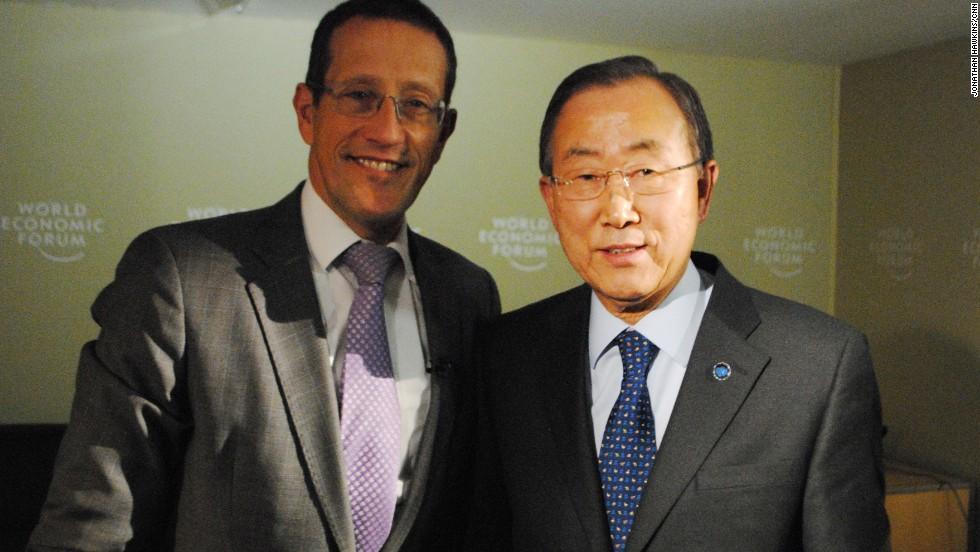 Richard Quest meets Ban Ki Moon, the Secretary-General of the U.N.