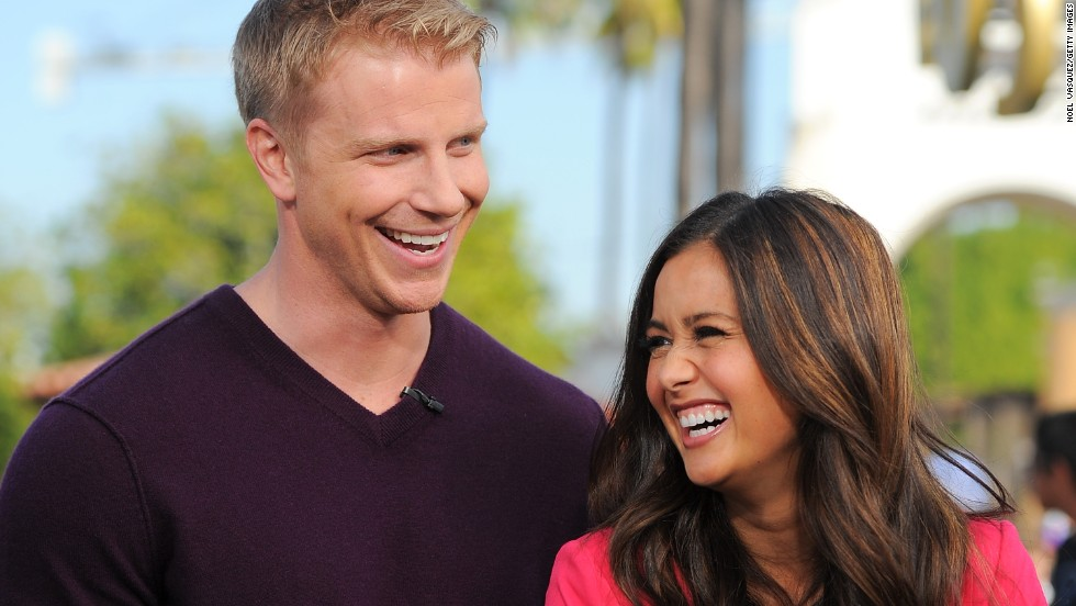 "Former ""Bachelor"" Sean Lowe and wife Catherine Giudici, whom he met and married on the program, are expecting their first child. ""It's happening! I'm going to be a dad!"" Lowe <a href=""https://www.instagram.com/p/_C_ZBtAkIC/?taken-by=seanloweksu"" target=""_blank"">wrote on Instagram</a>, accompanied by a photo of him caressing Giudici's baby bump."