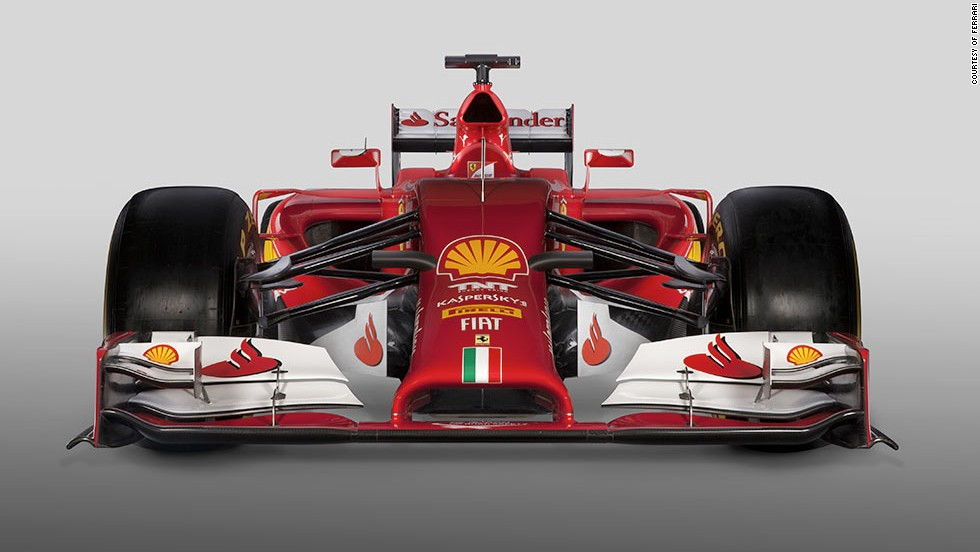 Ferrari unveiled their latest F1 car -- the F14 T -- on Saturday. The Italian team is also running a message of support for Schumacher on its livery.