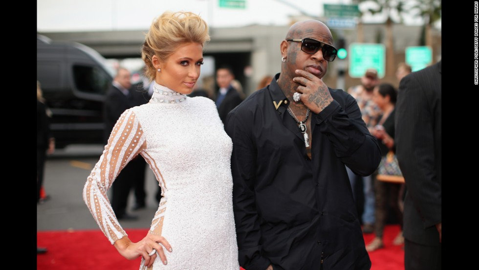 Paris Hilton and Birdman