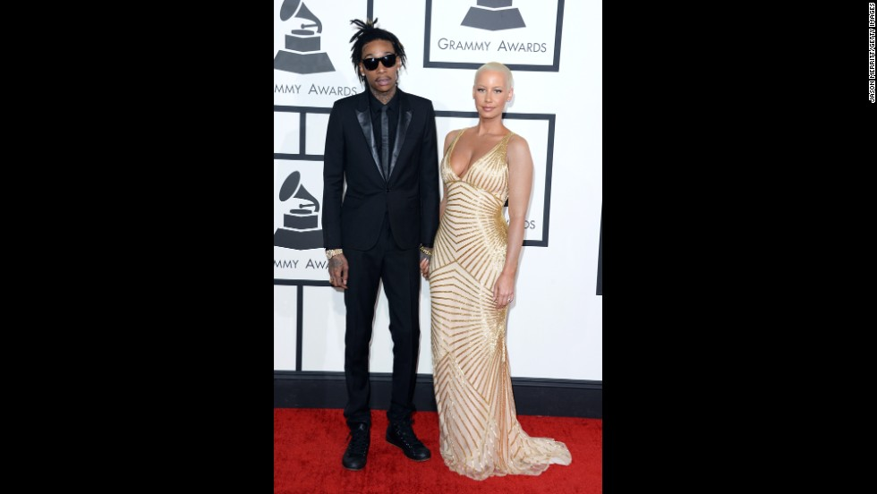 Wiz Khalifa and his wife, Amber Rose
