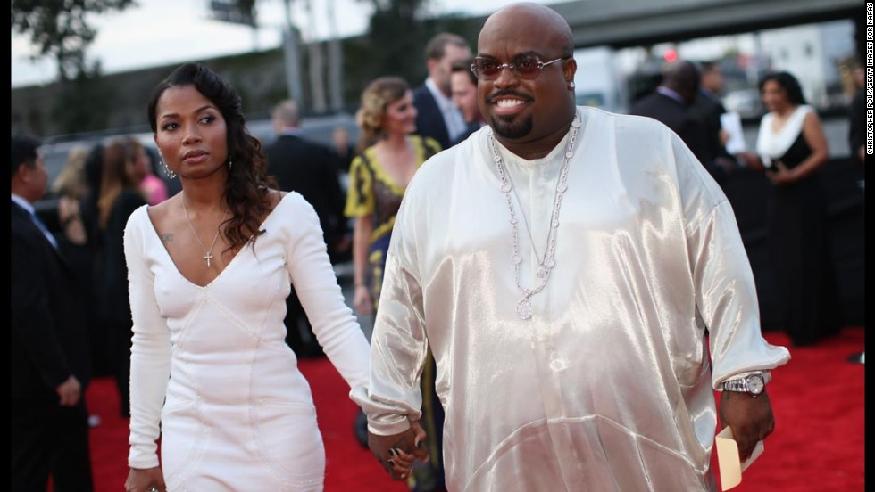Cee Lo Green and Shauni were a vision as they arrived at the Grammys on January 26. Is it just us, or is Cee Lo actually glowing?