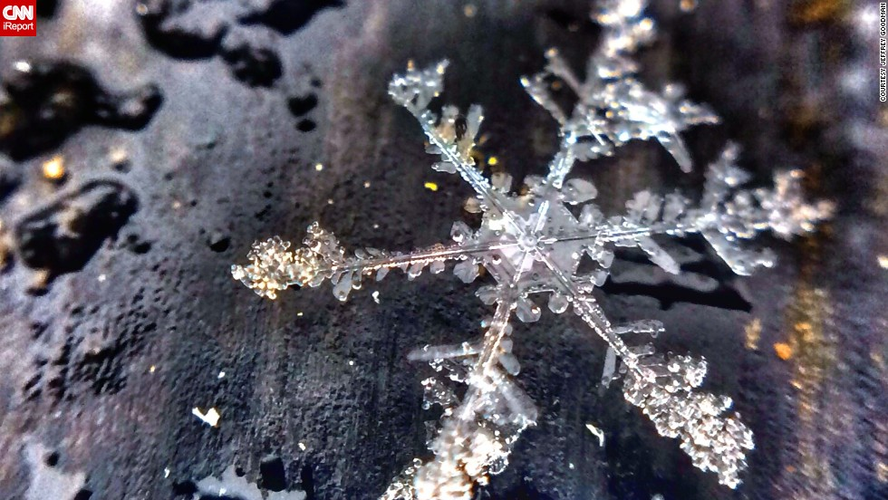 "The cold snaps across the United States seem endless, but with each new snowfall, there's an opportunity to capture a new perspective on winter, just like what <a href=""http://ireport.cnn.com/docs/DOC-1078499"">Jeffrey Goodman</a> did when he photographed this snowflake outside his Mentor, Ohio, home."
