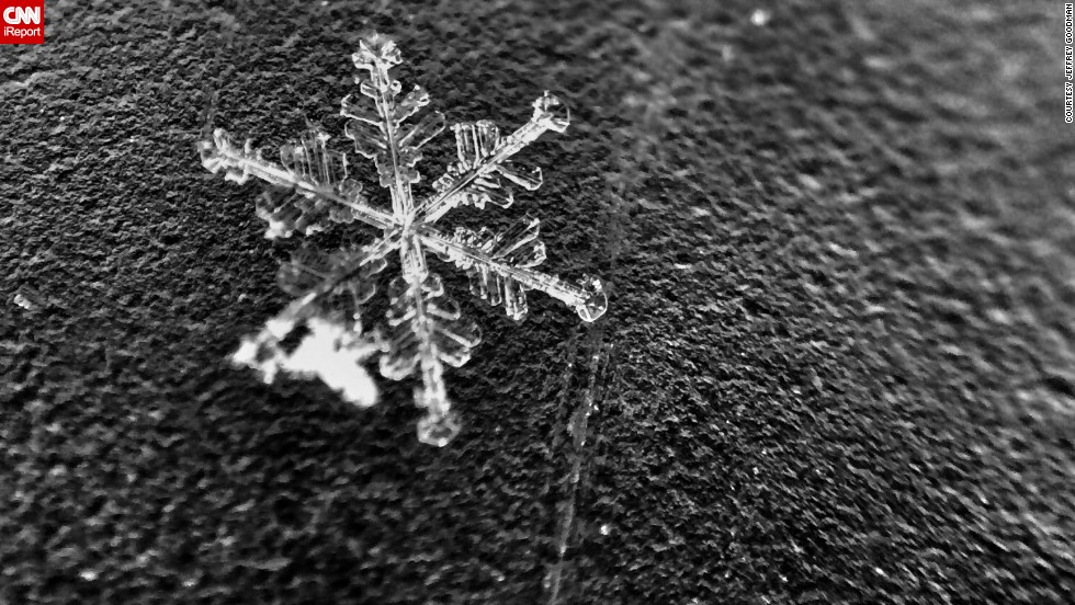 Throughout January, Goodman photographed snowflakes after snowstorms would come through his area.