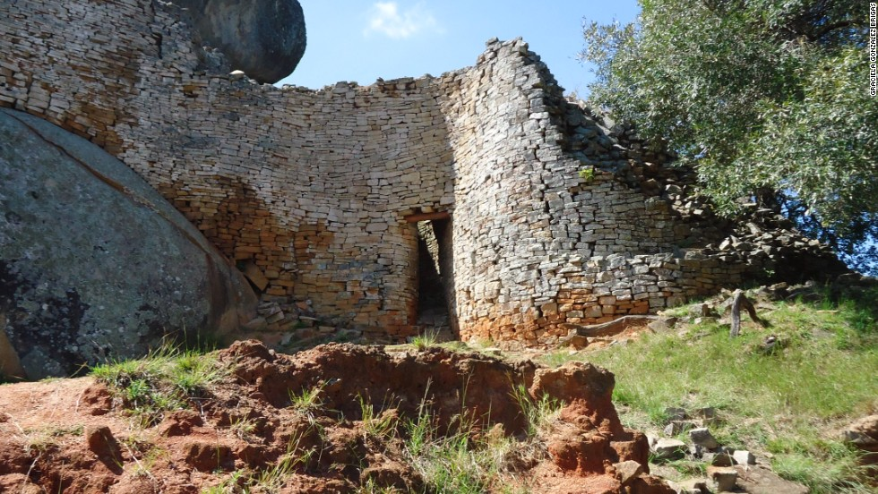 "The stone kingdom became such an important part of the national identity that Zimbabwe itself was named for this ancient city -- Zimbabwe translates to ""big houses of stone."""