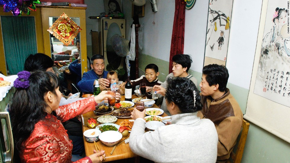 During CNY, millions of families reunite to eat, drink and eat, drink some more. Meals can include more than a dozen courses and copious quantities of beer and baijiu.
