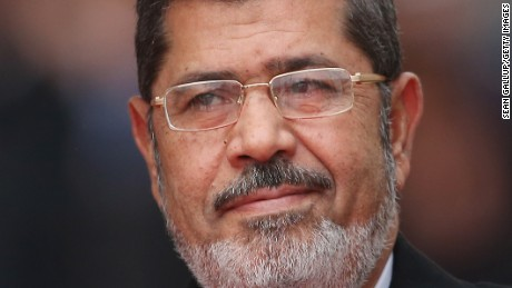 Egyptian President Mohamed Morsy arrives at the Chancellery to meet with German Chancellor Angela Merkel on January 30, 2013 in Berlin, Germany.