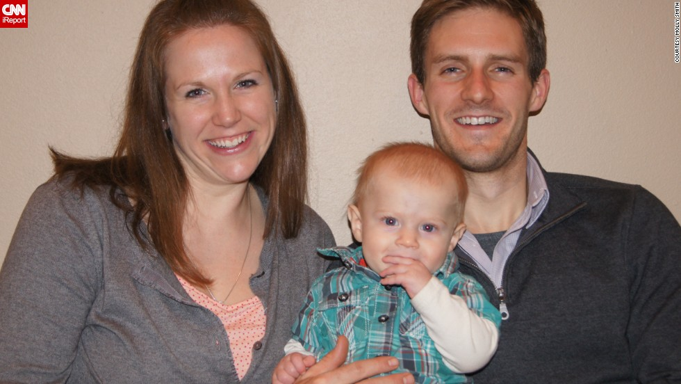 This is Molly Smith; her husband, Brady; and son, Liam.