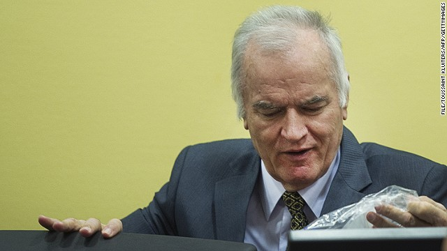 Ratko Mladic appears at the International Criminal Tribunal for the former Yugoslavia on May 16, 2012.