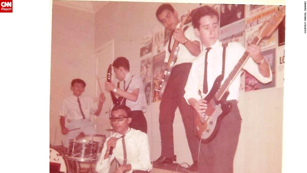 "The influence of Beatlemania also reached Venezuela in the 1960s, where <a href=""http://ireport.cnn.com/docs/DOC-1077325"">Marines Lares</a> says teenage boys formed bands to emulate the ""Fab Four."" ""Many boys started to play electric guitars and they formed rock groups singing in English and in Spanish, sometimes translating the lyrics from English to Spanish, and other times composing their own lyrics in their native language."""