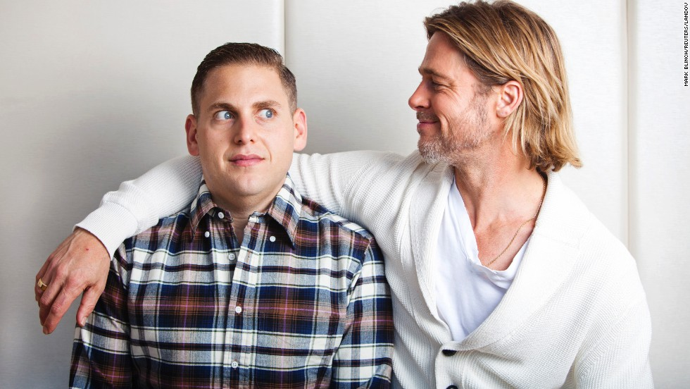 "After they filmed 2011's ""Moneyball"" together, Brad Pitt, right, and Jonah Hill have maintained a friendship. <a href=""http://www.usmagazine.com/celebrity-news/news/jonah-hill-crashed-at-brad-pitt-angelina-jolies-house-for-4-months-20112212"" target=""_blank"">Pitt even let Hill stay in his New Orleans home</a> for months while Hill was filming ""This Is The End,"" and Hill confirmed on ""The Howard Stern Show"" that he and Pitt keep in touch regularly."