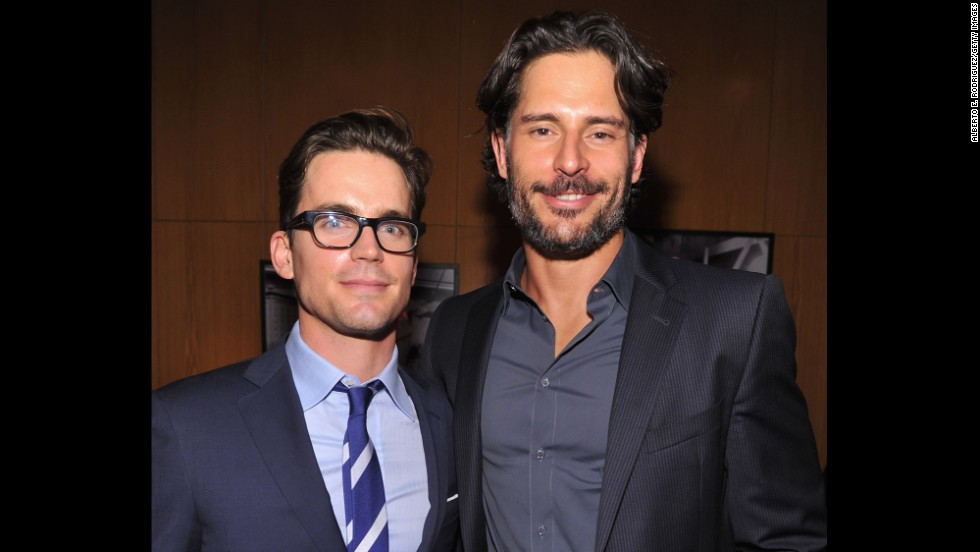 "Matt Bomer, left, and Joe Manganiello were bros long before they starred in 2012's ""Magic Mike"" together. The two actors have been buds since college."