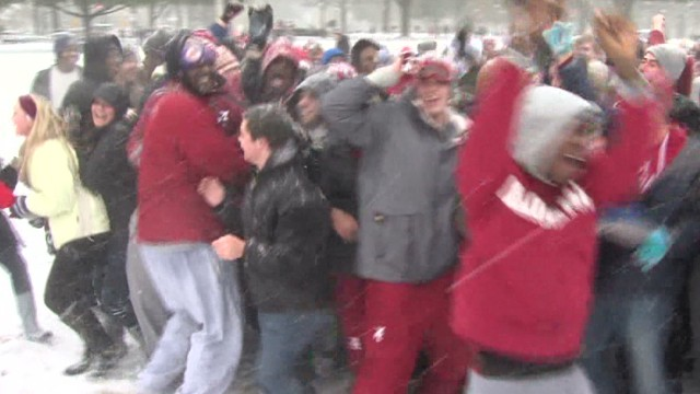 Students get snow day, start snow fight