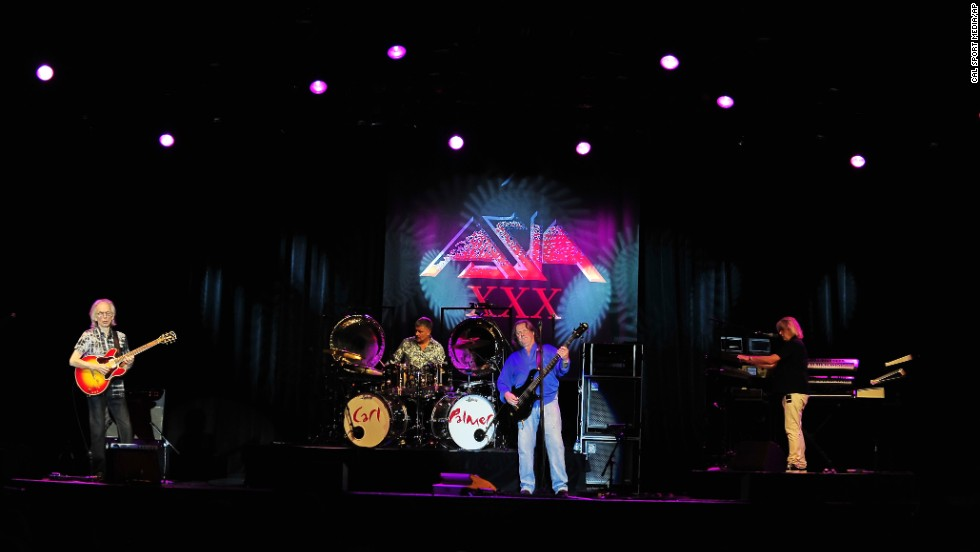 """'80s supergroup Asia had one of their biggest hits, """"Heat of the Moment,"""" in 1982 but that hasn't stopped them for continuing to rock out. Guitarist Steve Howe retired in 2013."""