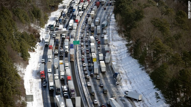 Traffic eases for most of Atlanta