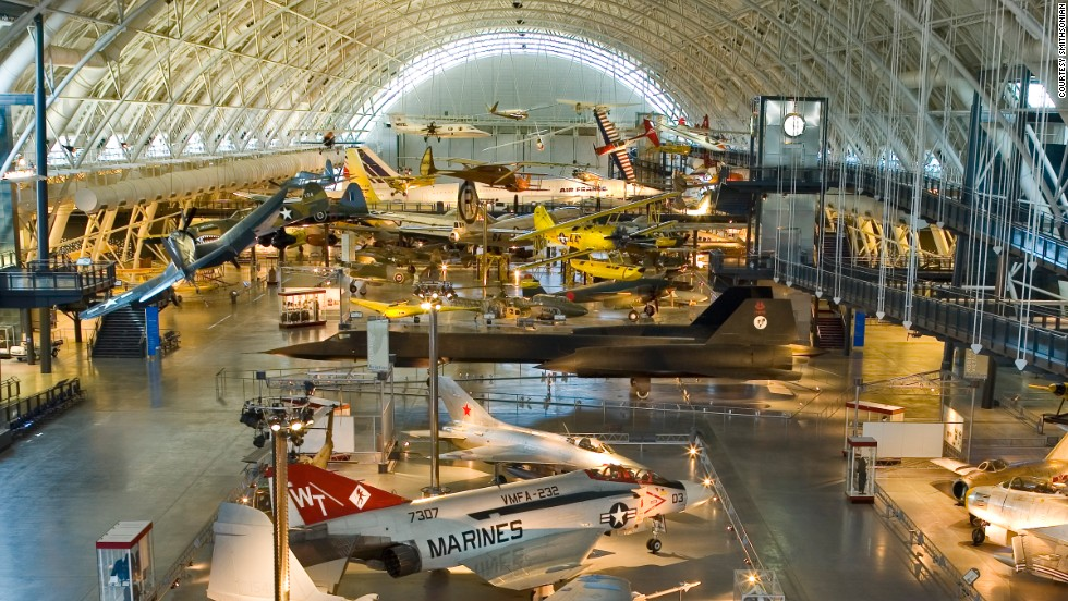 "Each year, 8 million people visit this Smithsonian museum in Washington. D.C. One of many highlights is the Apollo 11 Command Module, ""Columbia,"" which brought Buzz Aldrin, Neil Armstrong and Michael Collins home after the world's first moon walk."
