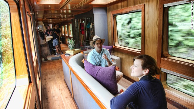 Tren Crucero's four luxury carriages were manufactured in Madrid and hold 54 passengers in total.