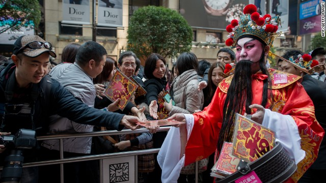 Get lucky: Traditional red packets of cash are being replaced by money exchange apps