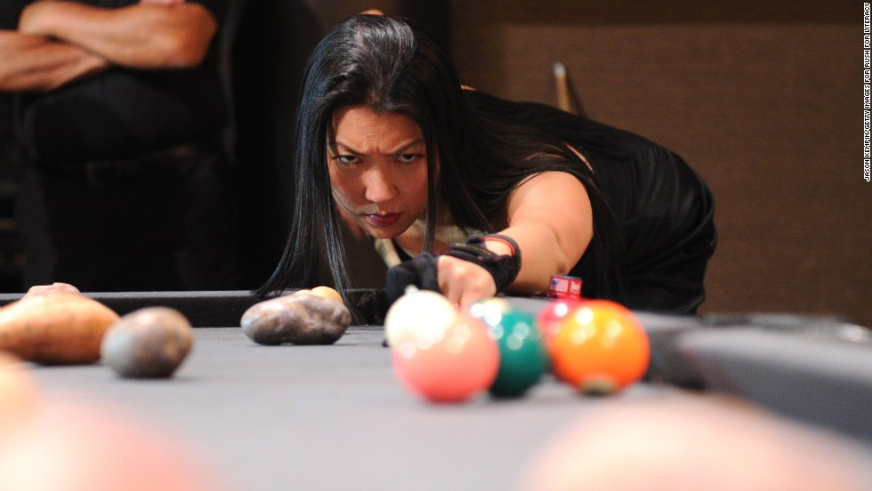 "As a teen, Jeanette ""The Black Widow"" Lee was diagnosed with the spinal disorder scoliosis, <a href=""http://www.blackwidowbilliards.com/about-jeanette/"" target=""_blank"">according to her website</a>. Despite 11 surgeries to her back, neck and shoulder, Lee is a former No. 1-ranked American player and a member of the <a href=""http://home.bca-pool.com/displaycommon.cfm?an=1&subarticlenbr=4"" target=""_blank"">Billiard Congress of America Hall of Fame. </a>"