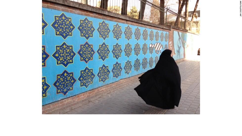 Scene from outside the former U.S. Embassy in Tehran.